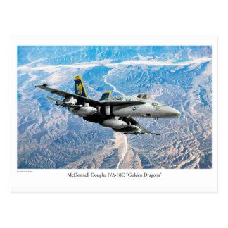 """Aviation Art Postcard """"F/A-18 Hornet"""" ポストカード"""