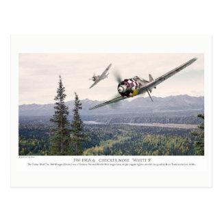 """Aviation Art Postcard """"Focke-Wulf Fw 190"""" ポストカード"""