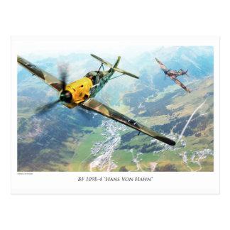 """Aviation Art Postcard """"Messerschmitt Bf109E"""" ポストカード"""