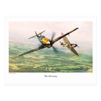 """Aviation Art Postcard """"Messerschmitt Bf 109E"""" ポストカード"""