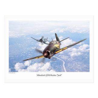 "Aviation Art Postcard ""Mitsubishi J2M Jack"" ポストカード"
