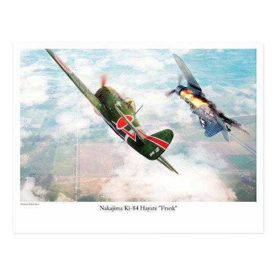 """Aviation Art Postcard """"Nakajima Ki-84疾風 """"Frank"""" ポストカード"""
