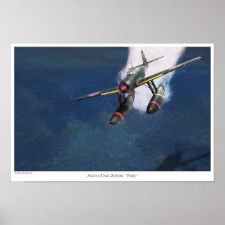 "aviation Art Poster ""Aichi E16A Zuiun"" Paul"""" ポスター"