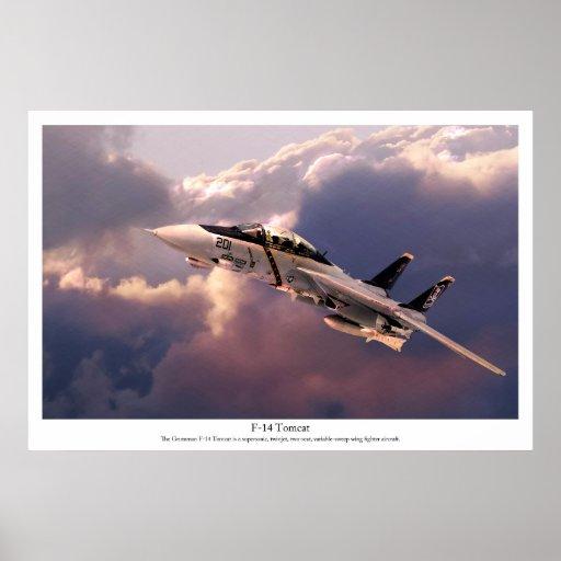 "Aviation Art Poster ""F-14 Tomcat"" ポスター"