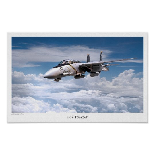 "Aviation Art Poster ""F-14 Tomcat"" ポスター"