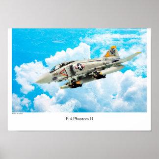 "Aviation Art Poster ""F-4 Phantom II"" ポスター"