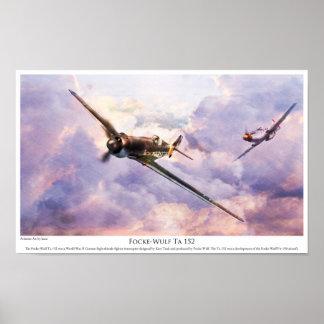 "Aviation Art Poster ""Focke-Wulf Ta 152 "" ポスター"