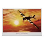 "Aviation Art Poster ""Hawker Tempest MK.V "" ポスター"