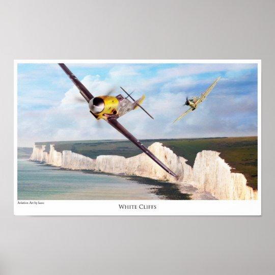 """Aviation Art Poster """"Messerschmitt Bf 109"""" ポスター"""
