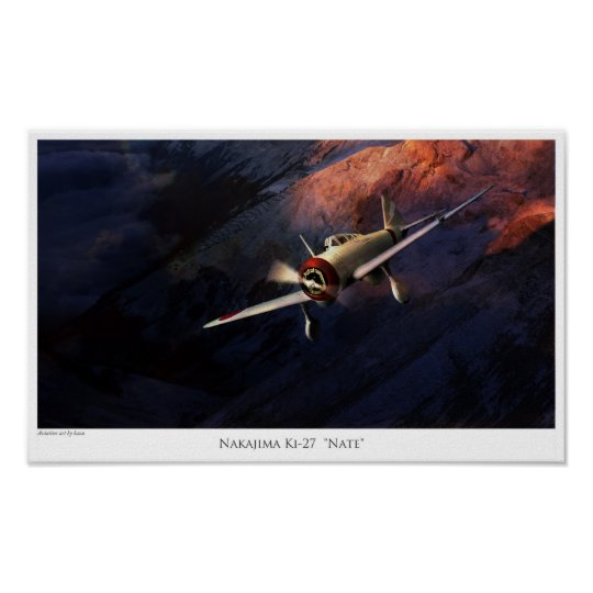 "Aviation Art Poster ""Nakajima Ki-27""Nate"""" ポスター"