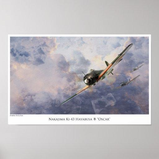 """aviation Art Poster """" Nakajima Ki-43 Oscar"""" ポスター"""