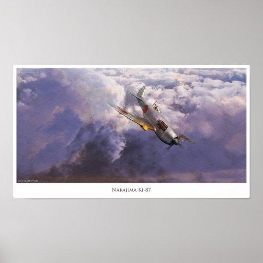 "Aviation Art Poster ""Nakajima Ki-87"" ポスター"