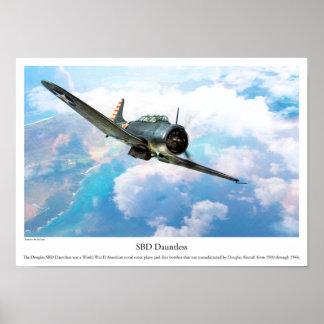 "Aviation Art Poster ""SBD Dauntless"" ポスター"