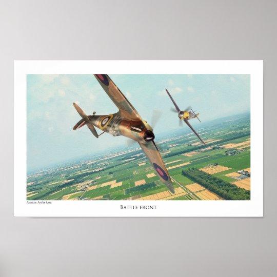"Aviation Art Poster ""Spitfire"" ポスター"