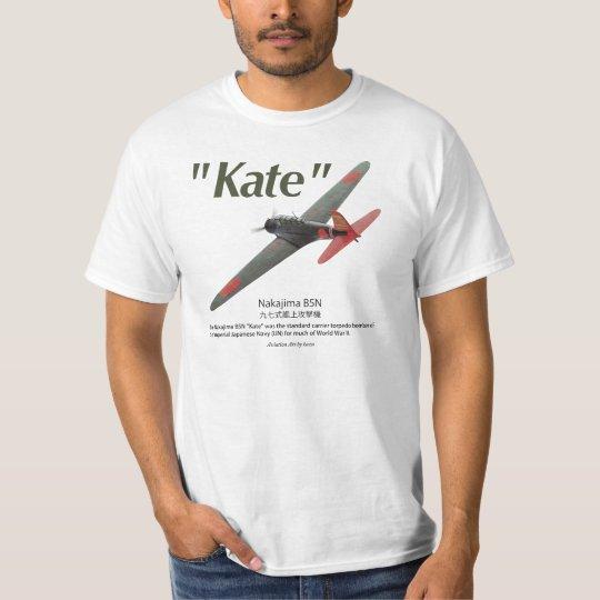 "Aviation Art T-shir ""Nakajima B5N 九七式艦上攻撃機 ""Kate"""" Tシャツ"