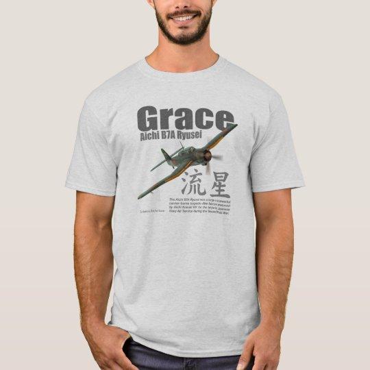 """Aviation Art T-shirt """"Aichi B7A Ryusei """" Tシャツ"""