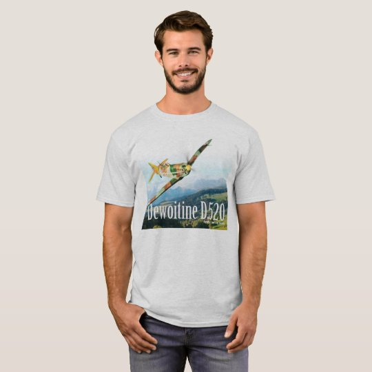 "Aviation Art T-shirt ""Dewoitine D.520"" Tシャツ"