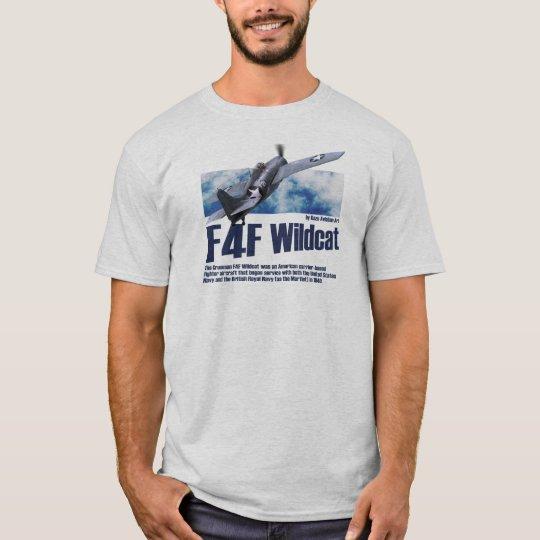 """Aviation Art T-shirt """"F4F Wildcat"""" Tシャツ"""