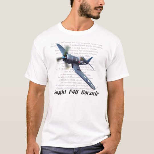 "Aviation art T-shirt ""F4U Corsair"" Tシャツ"