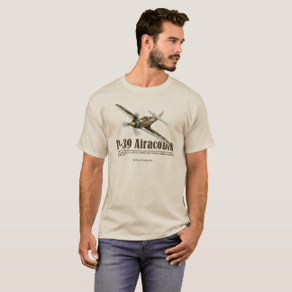 "Aviation Art T-shirt ""P-39 Airacobra"" Tシャツ"