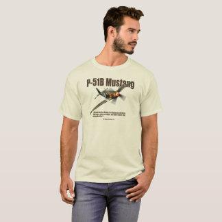 """Aviation Art T-shirt """"P-51B Mustang"""" Tシャツ"""
