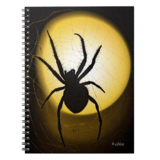 AvidWolf著黄色いくも|のファインアートのノート ノートブック