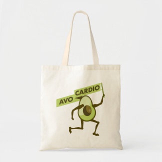 Avoの心臓おもしろいなアボカド トートバッグ