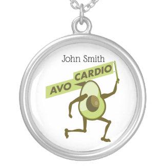 Avo心臓おもしろいなアボカド シルバープレートネックレス