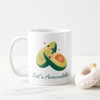 Avocuddleのおもしろいでかわいいアボカドのしゃれのユーモアは コーヒーマグカップ