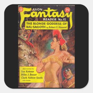 Avonのファンタジーの読者012の(1950.Avon) _Pulpの芸術 スクエアシール