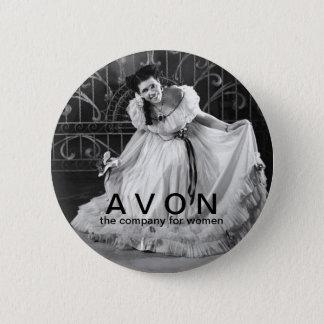AVONの美しいボタンを見るヴィンテージ 缶バッジ