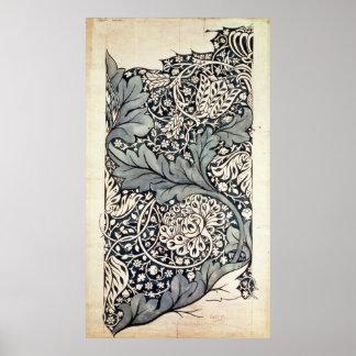 AvonのChintz、c.1886のためのデザイン ポスター
