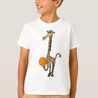 AW-バスケットボールのワイシャツを持つキリン Tシャツ