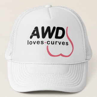 AWD愛カーブのピンク キャップ