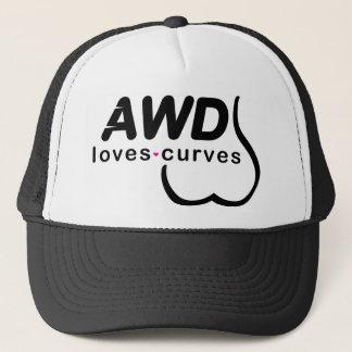 AWD愛カーブの黒 キャップ