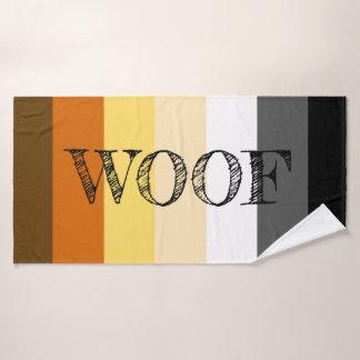 Awesome Bear Pride flag Woof バスタオル