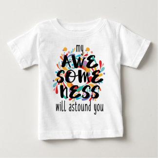 Awesomeness (黒い文字) ベビーTシャツ
