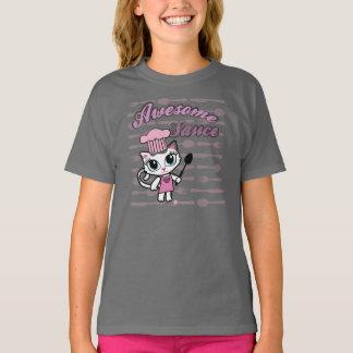 Awesomesauce生意気な雑談によるかわいい猫のTシャツ Tシャツ