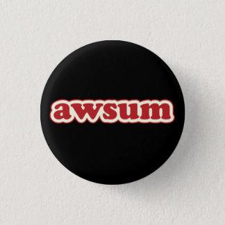 Awsum LolcatはPinbackしゃれているなボタンを話します 缶バッジ