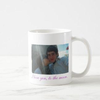 aww1、私は月に、愛します コーヒーマグカップ
