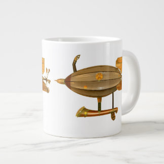 Axantha Steampunkの飛行船のコーヒー・マグ ジャンボコーヒーマグカップ