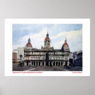 Ayuntamiento de A Coruña/City Council of A Coruña ポスター
