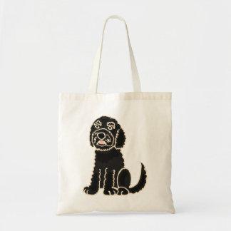 AZ-かわいいLabradoodle犬のバッグ トートバッグ