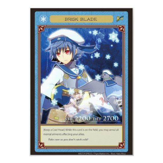 AZ card-Brisk Blade 8.9 X 12.7 インビテーションカード