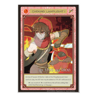 AZ card - Choking Lamplight I 8.9 X 12.7 インビテーションカード