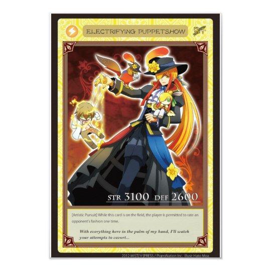 AZ card - Electrifying Puppetshow 8.9 X 12.7 インビテーションカード