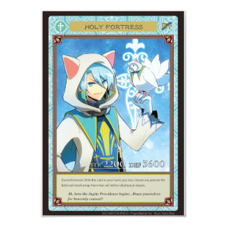 AZ card - Holy Fortress 8.9 X 12.7 インビテーションカード