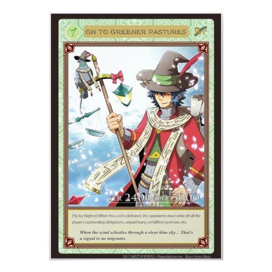 AZ card - On to Greener Pastures 8.9 X 12.7 インビテーションカード