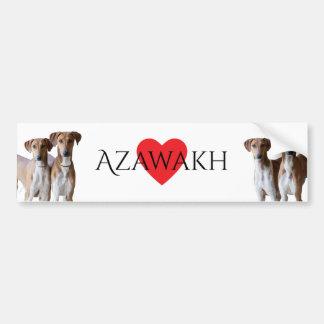 Azawakhのバンパーステッカー バンパーステッカー