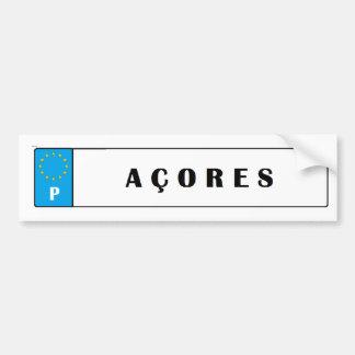 Azores*の島の運転免許証のステッカー バンパーステッカー